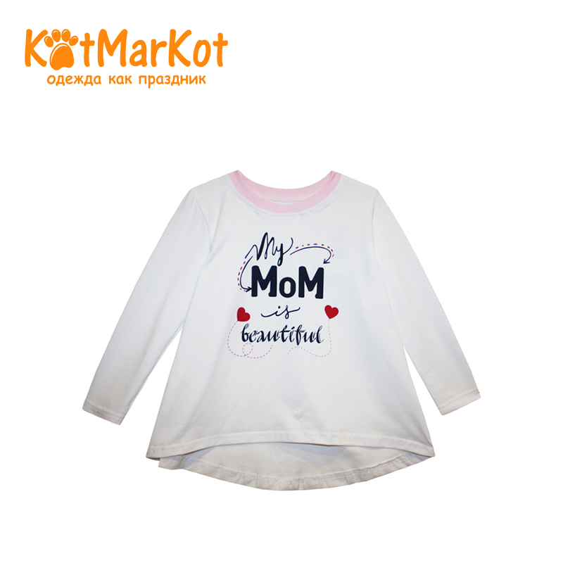 Tunic Kotmarkot 20553 children clothing for girls kid clothes bird print applique plus size tunic top