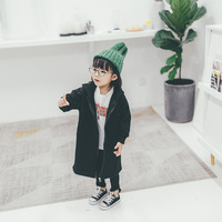 Fashion 3-8 Years Girls Wool Coats Jackets Girls Thick Warm Lambs Wool Hoodie Jacket For Winter Warm Baby outerwear Clothes