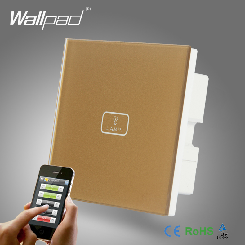 BS CE Approved WIFI Wallpad Gold Temepred Glass WIFI Remote 1 Gang Wireless Electric Touch Screen Controlled Smart Home Switch 1 5m diameter 1800w portable solar cooker ce approved