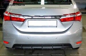 Image 5 - Funda difusora para Toyota Corolla E160 2013 2016 de parachoques trasero, kit de ABS, plástico de carrocería, almohadilla aerodinámica, decoración de coche