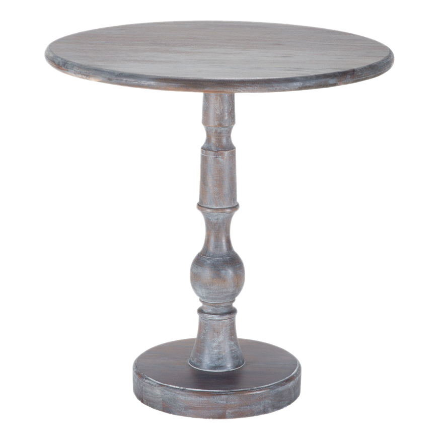 купить Sterling Acanthus Post Side Table In Waterfront Grey Stain With White Wash по цене 14652.4 рублей