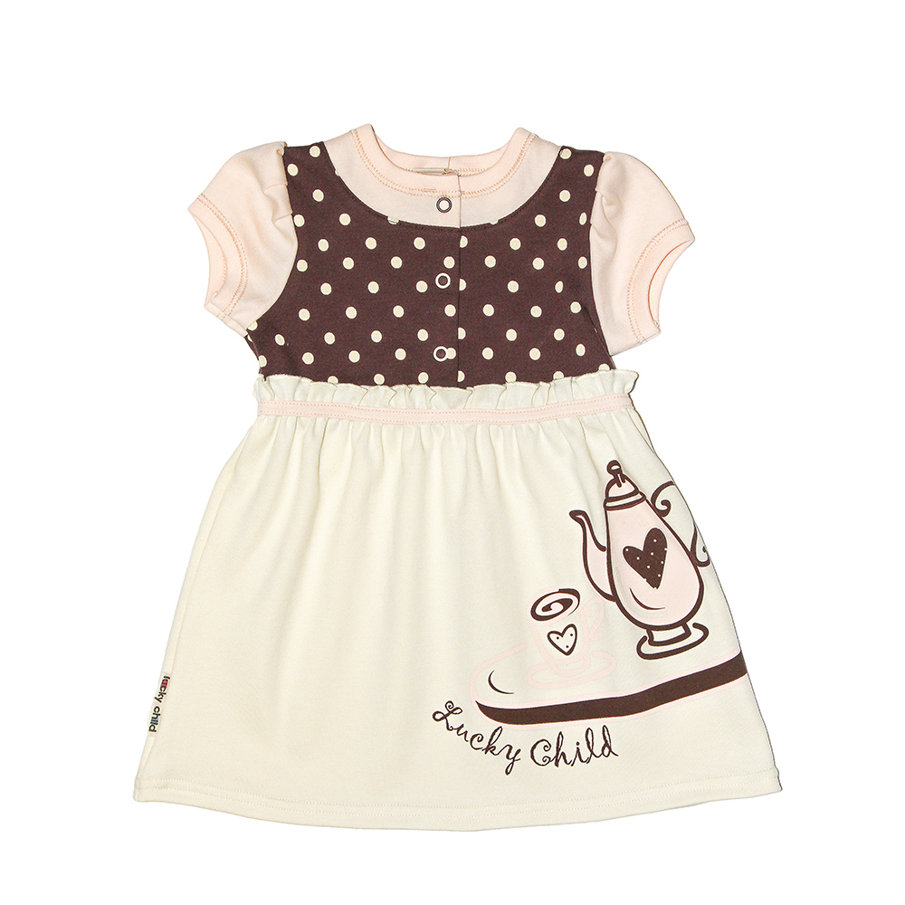Dresses Lucky Child for girls 23-62 Cafe Dress Kids Sundress Baby clothing Children clothes srac 2500