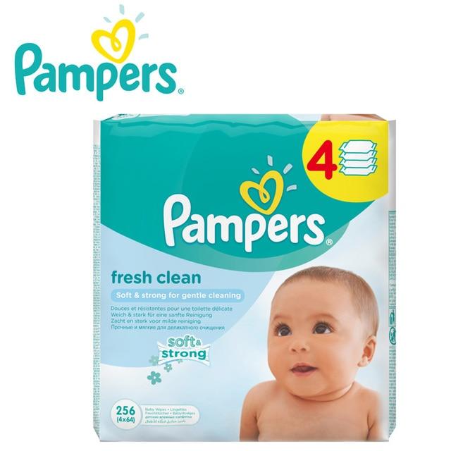Детские влажные салфетки Pampers Baby Свежий, Чистый, 256 шт.