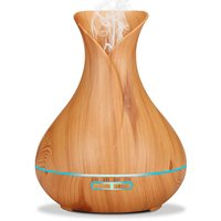 400ml Aromatherapy Essential Oil Diffuser Purifier Spa Refresh Atomizer Ultrasonic Air Humidifier Wood Grain For Office
