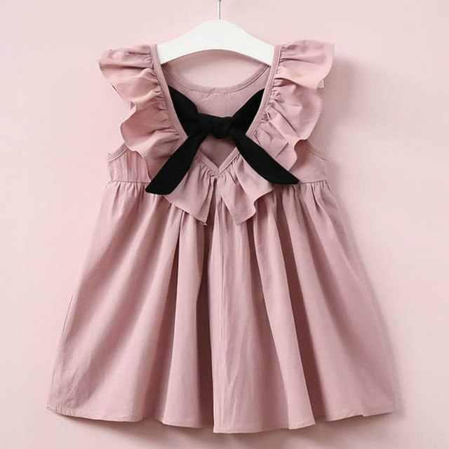 Verão nova moda bebê dos desenhos animados Minnie vestido da menina de suspender ocasional solto lotus gola sem mangas Vestido de Praia