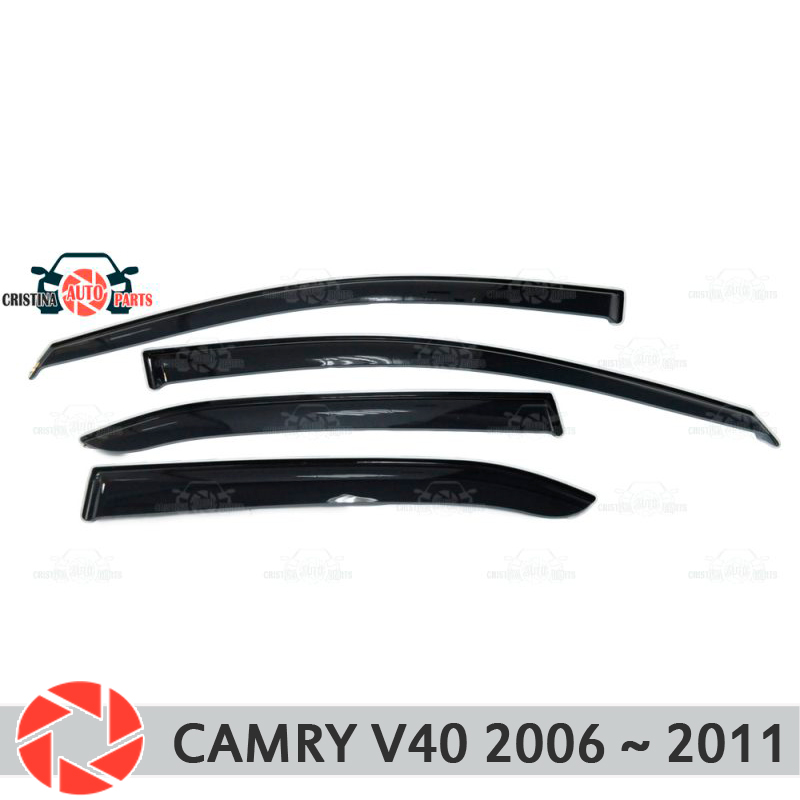 Window deflector for Toyota Camry V40 2006~2011 rain deflector dirt protection car styling decoration accessories molding high quality car styling case for hyundai sonata 2011 12 headlights led headlight drl lens double beam hid xenon car accessories
