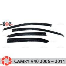 Окна отражатель для Toyota Camry V40 2006 ~ 2011 дождь дефлектор грязи Защитная оклейка автомобилей украшения аксессуары для литья под давлением