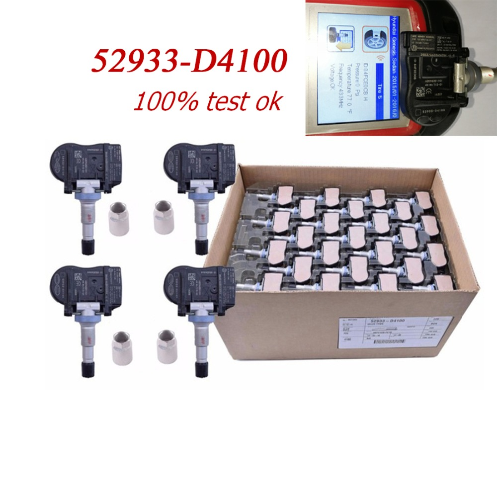 4 pcs NEW 52933 D4100 Original TPMS Tire Pressure Monitor Sensor 433 MHZ For Hyundai Accent