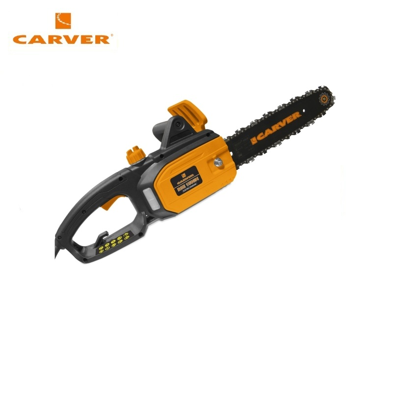 Electric chain saw CARVER RSE-1500M Flat-blade chainsaw Link tooth saw Chain cutter Cross-cut saw electric chain saw parma m5 flat blade chainsaw link tooth saw chain cutter cross cut saw