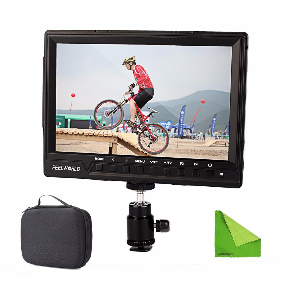 Feelworld FW760 FW-760 4K HDMI Output 7'' Video Monitor IPS Full HD 1920x1200 HDMI 1080p Macro HDMI for BMPCC Dslr Camera