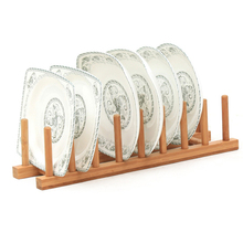 8/6/4 Layer Dish Rack Wooden Drainer Plate Stand Durable Healthy Fold Holder Dry Shelf Storage