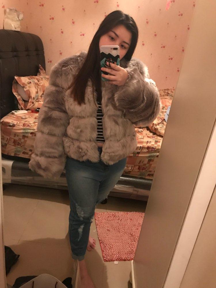 d9beab4133c Simplee Vintage fluffy faux fur coat women Short furry fake fur ...