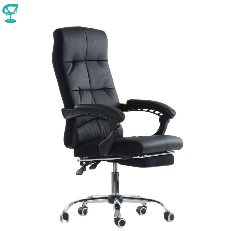 K43PuBlack Office Chair Barneo K-43 leather high back plastic armrests with gas lift roller free shipping in Russia