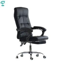 K43PuBlack silla de oficina Barneo K-43 Reposabrazos de cuero Espalda alta de plástico con rodillo de elevación de gas envío gratis en Rusia
