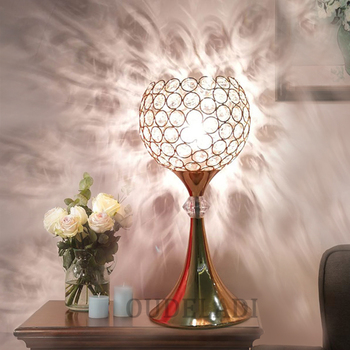 Modern European wrought iron crystal Table Lamps creative bedroom living room head of a bed high-end Lamps With E27