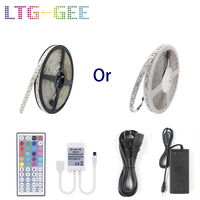 LTG GEE 24V 5050 10M 600Leds Color Changing Led Strip+44 key IR Remote+Power Supply for Home lighting and Kitchen Decorative
