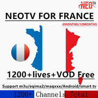 NEOTV Pro IPTV Subscription Arabic Europe French IPTV 1year code 1200+ live TV And 2000 VOD for Android box Smart tv mag box