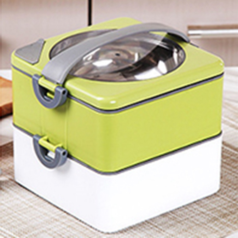 portable mini japanese bento box leak proof stainless steel lunch boxs for kids picnic container. Black Bedroom Furniture Sets. Home Design Ideas