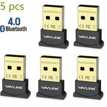 Wavlink 5 PCS USB Bluetooth Adapter V4.0 dual-mode Bluetooth Dongle compatible with Windows 7/8/Vista/32 bit and 64 bit WidowsXP(China)