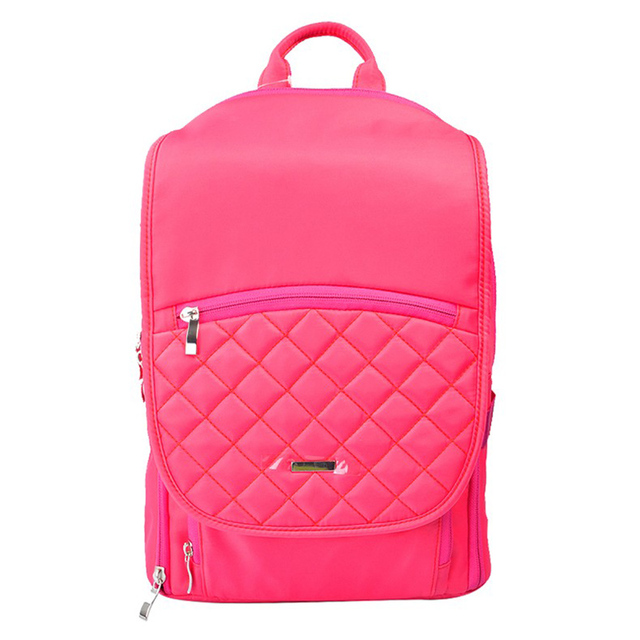 Cute Women Bag Waterproof Polyester Pink Camera Backpacks for Nikno Canon  Sony Pentax DSLR Cameras