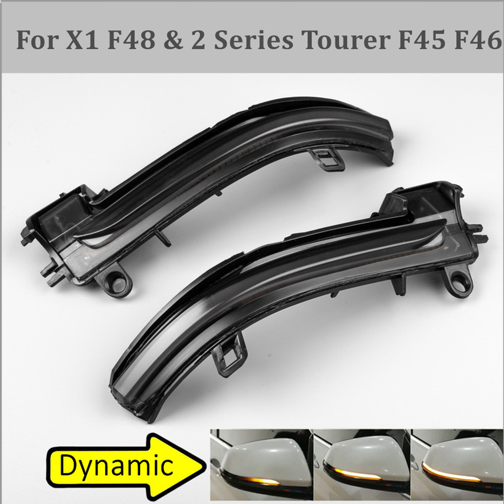 For BMW X1 F48 2016-2018 2 Series F45 F46 LED Dynamic Turn Signal Blinker Sequential Side Rearview Mirror Indicator Light Lamp