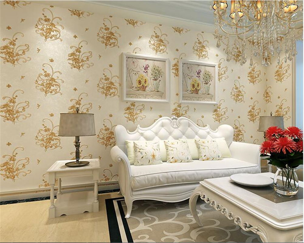 beibehang Fashion fresh small floral wallpaper bedroom living room ...