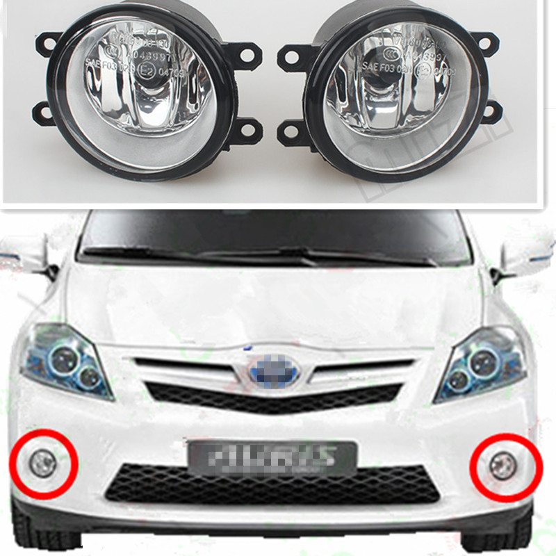 For toyota AURIS 2007+ Car Styling Front Bumper Fog Lamps Original Fog Lights 1 Set (Left + right) for car styling front bumper fog lights para toyota iq kgj1 ngj1 2012 2013 fog lamps esquerda direita halogen 1set