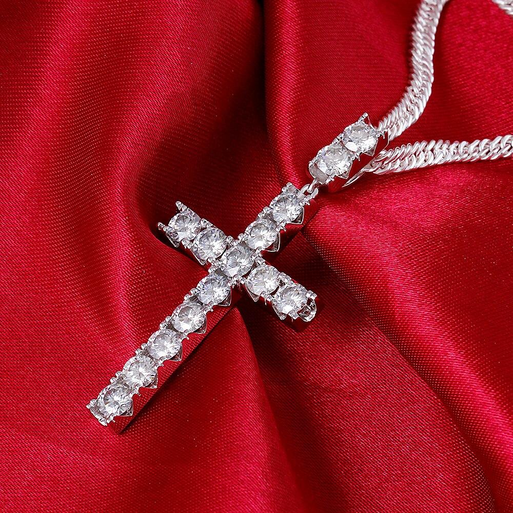 moissanite cross pendant necklace for man (4)
