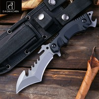 Fixed Blade Tactical Knives with Sheath Tanto Blade Outdoor Survival Knife Tactical Knife Ergonomics G10 Anti skidding Handle