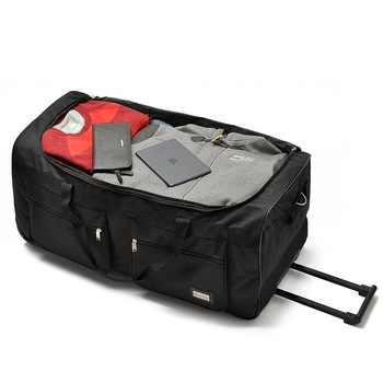 32 40 inch ultralight nylon super large capacity trolley luggage travel bag soft canvas male luggage checked bag