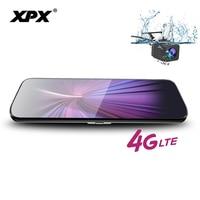 XPX ZX969 Car dvr Dash cam Rearview mirror Android ADAS 4G Rear view camera 9.8 inch IPS screen 1080P WiFi GPS Car camera