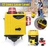 12 Lines 3D Laser Level Points Level Tilt Function Self Lleveling Outdoor Corss Line Lazer Tools