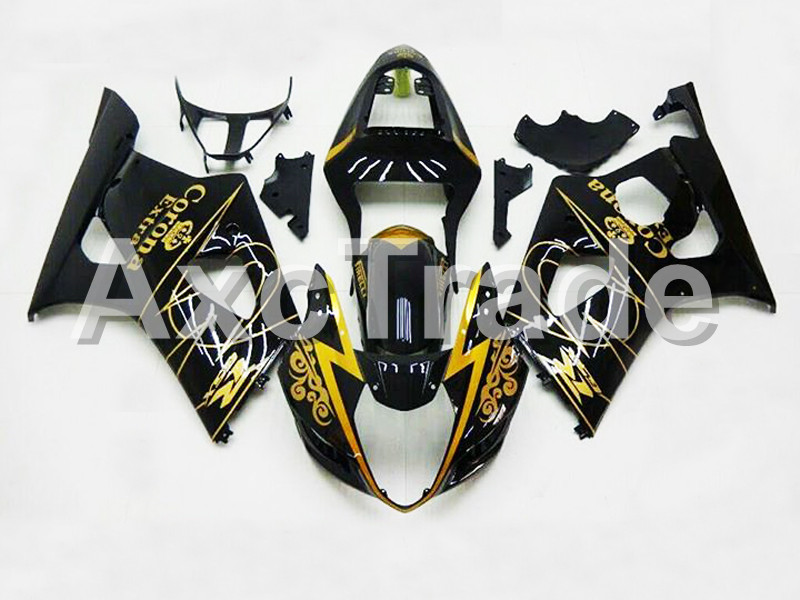 Motorcycle Fairings For Suzuki GSXR GSX-R 1000 GSXR1000 K3 2003 2004 03 04 ABS Plastic Injection Fairing Bodywork Kit Black 5251 custom road fairing kits for suzuki glossy flat black 2006 gsxr 1000 k5 2005 gsx r1000 06 05 motorcycle fairings kit
