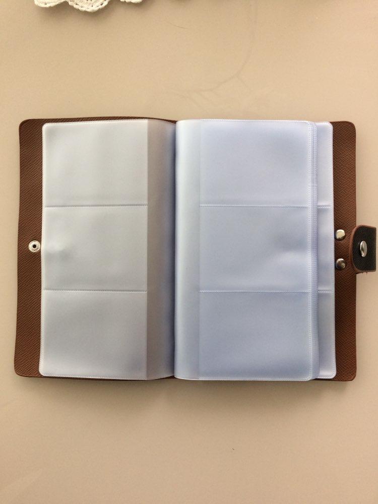 96 Bits Slots Dames Herenspeciaalzaak Houders Vast lichaam PVC Materiaal Buckle Groot volume Bankkaart ID Creditcardhouder photo review