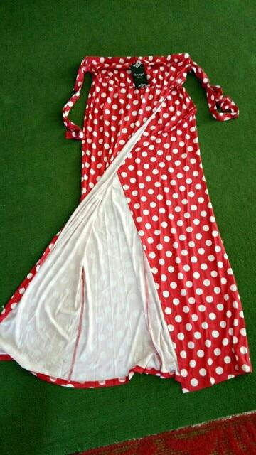 Vintage Polka Dot Dress Women Party Dresses Women Maxi Long Dress Elegant Lady Summer Dress Female Vestidos photo review