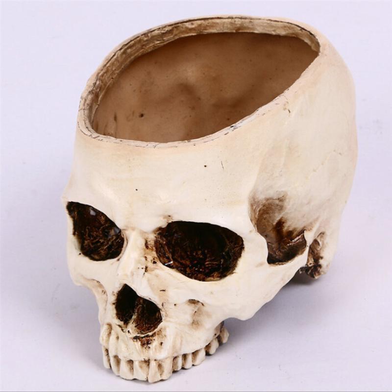 Хэллоуин Homehold череп головы Форма пепельница ретро корпели Craft Творческий горшок ужасный украшения 12x12x10 см новые