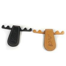 Портативный бильярдный Бильярдный Кий держатель 4 отверстия черный/коричневый складной кожаный кий стойка Бильярд аксессуары