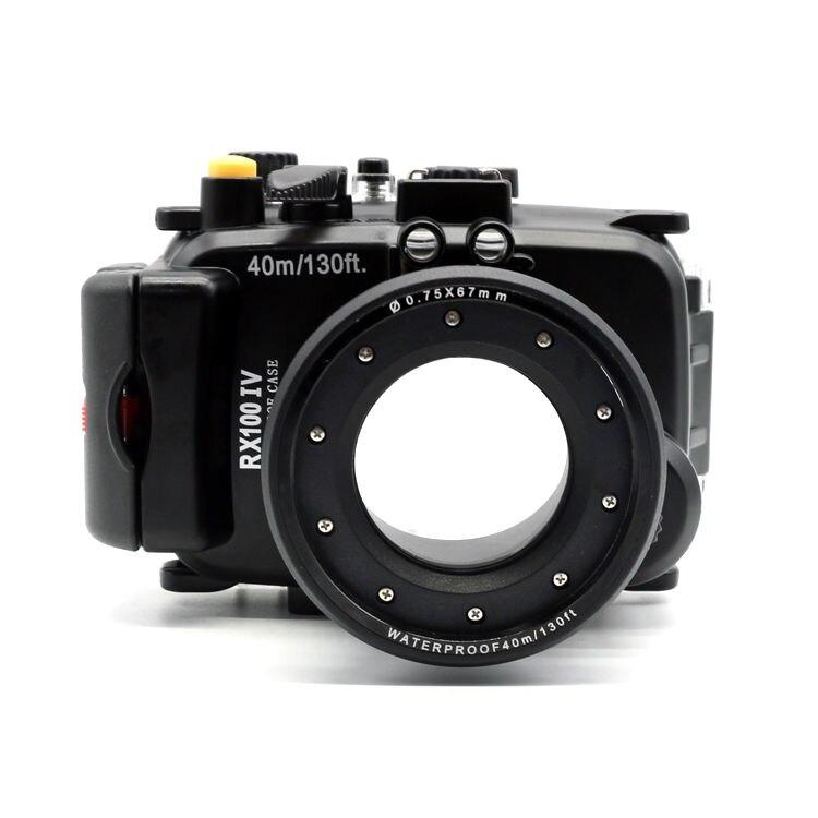 Meikon 40m /130ft Waterproof Camera Housing Hard Case for Sony RX100 IV/RX100 M4 Waterproof Bags Case for Sony RX100 IV/RX100 M4