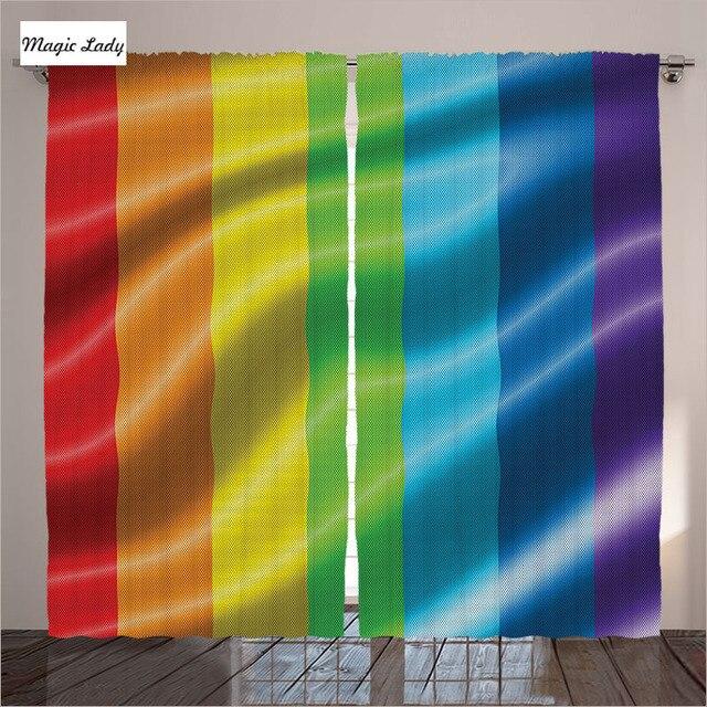 Cortinas color sala de estar dormitorio Arco Iris bandera hombres ...