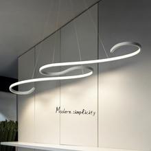 Black/White Finished Modern Led pendant lights for dining room Kitchen Room Bar acrylic Pendant Lamp Fixtures
