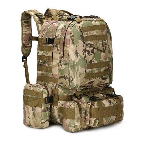 Sac à dos militaire tactique extérieur 60L sac à dos militaire sac à dos d'assaut de 3 jours sac à dos de Combat Molle pour le Camping de Trekking