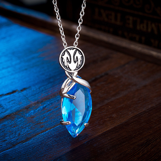 Game final fantasy crystal chronicles yuna necklace 3d blue game final fantasy crystal chronicles yuna necklace 3d blue crystal drop pendants classic punk women and mozeypictures Gallery