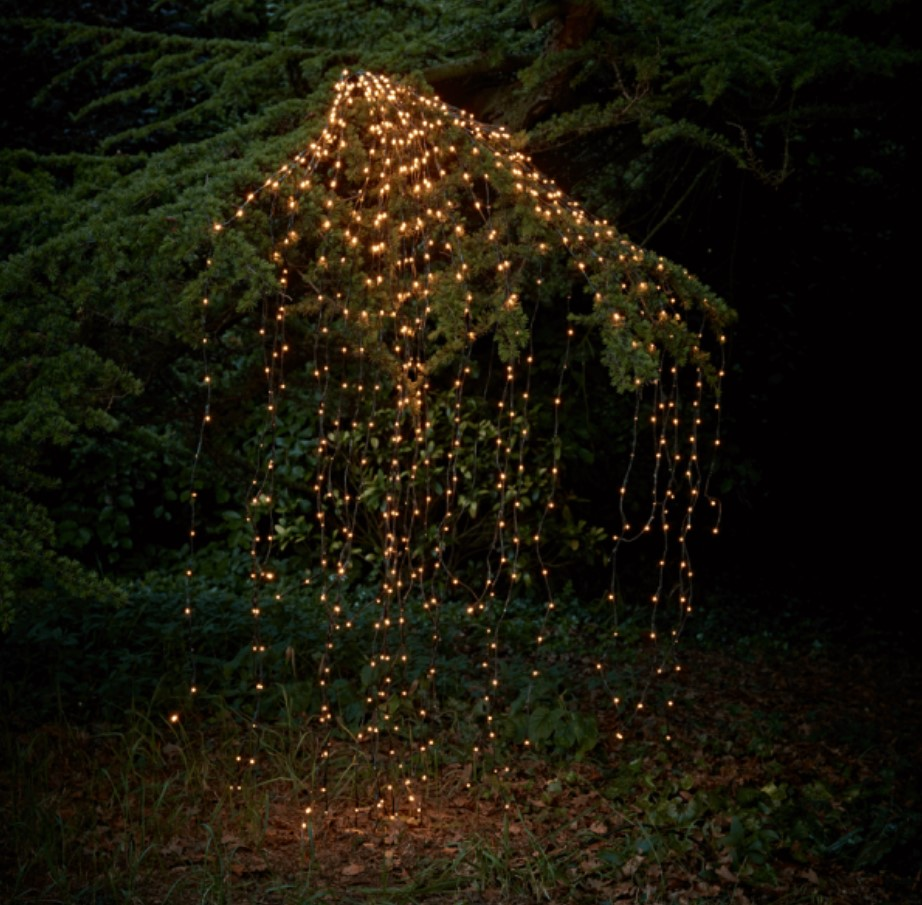 Outdoor LED Solar Lights String Waterfall Fairy Icicle Lights 300 Luces Christmas Tree Light For Holiday Party Garden Decoration