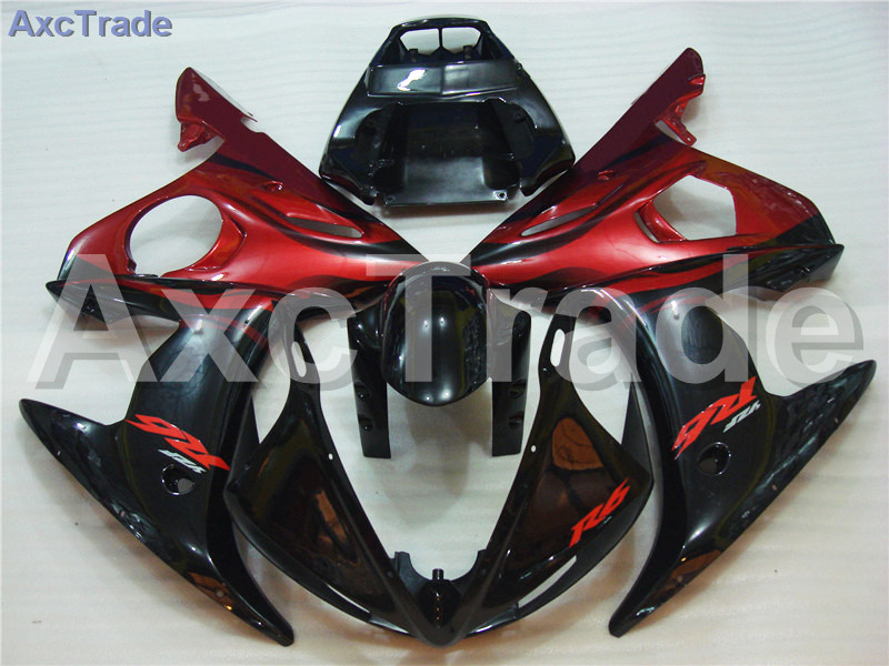 Motorcycle Fairings Kits For Yamaha YZF600 YZF 600 R6 YZF-R6 2003 2004 03 04 ABS Injection Fairing Bodywork Kit Red Black A378