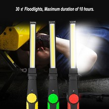 Upgrade Torch Rotatable USB Portable Flashlight COB LED Work Light Lantern Magnetic Spotlight night light