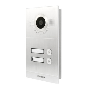 Image 5 - HOMSECUR فيديو باب الدخول الأمن الداخلي مع تسجيل ولقطة لمدة 2 شقة + امدادات الطاقة + وحدة تحكم الوصول