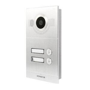 Image 5 - HOMSECUR Görüntülü Kapı Giriş Güvenlik Interkom Kayıt ve Anlık 2 Apartman için + Güç Kaynağı + Erişim kontrol ünitesi