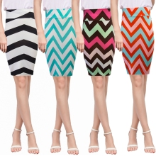 Womens Stripe Bodycon Skirt Casual High Waist Pencil Slim Sexy OL New Fashion Office Lady  Knee Length  Midi Autumn Winter