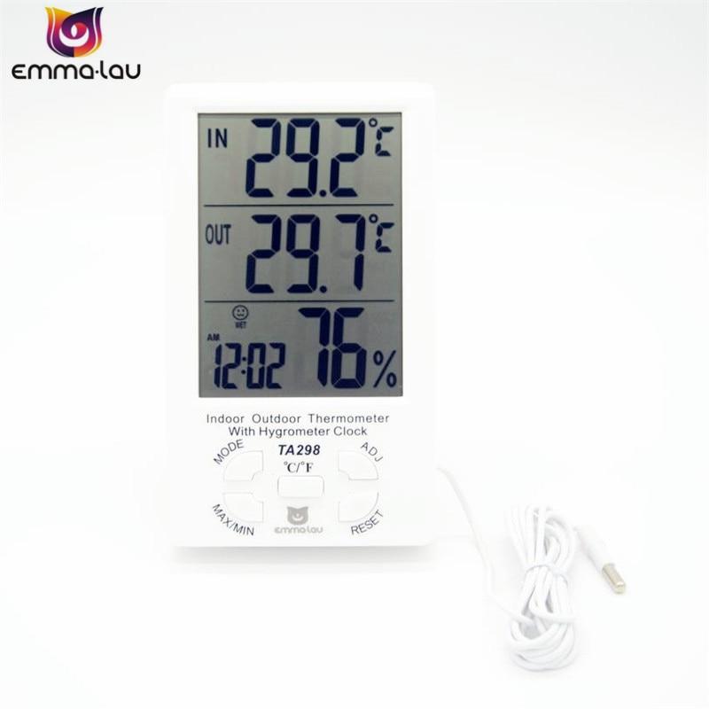 EL TA298 Temperatur Und Feuchtigkeit Meter Indoor Outdoor Draht ...