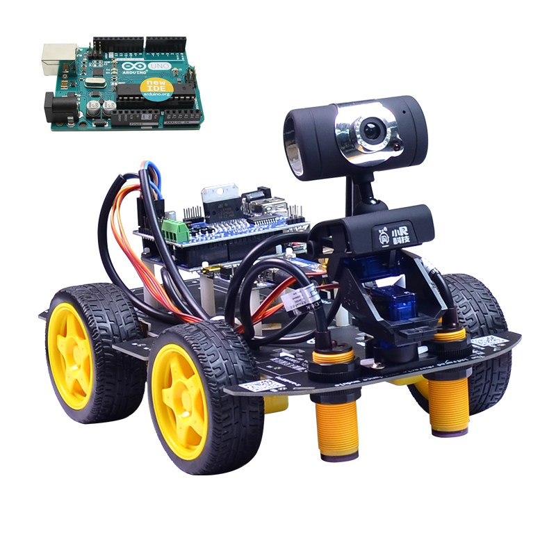 Xiao R DIY Smart Robot Wifi Video Control Car with Camera Gimbal for Arduino UNO R3 Board Mouse/Smart Phone Science Model цена 2017
